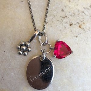 Forever Ruby Floral Pendant